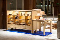 yusuke seki installs nakagawa masashichi shoten-gai retail fit up in tokyo