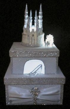 Lighted Cinderella Castle Carriage Wedding Card Box Fairy Tale 15 / 16 Birthday – The Best Ideas Cinderella Sweet 16, Cinderella Theme, Cinderella Birthday, Cinderella Wedding, Cinderella Castle, Cinderella Slipper, Wedding Gift Card Box, Gift Card Boxes, Wedding Boxes