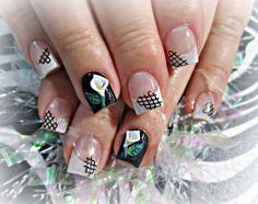 3d calla lily acrylic nails