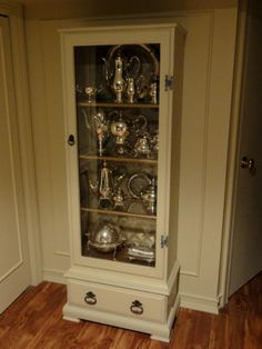 my silver cabinet! from gun cabinet