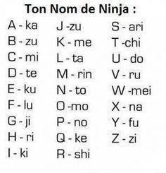 ton nom de ninja: Rinkashikiku-Rikutakutoku ahahahah
