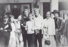 1988 rare photo: Ekaterina Maximova, Irina Kolpakova, Rudolph Nureyev, Gabriella Komleva?, Vladimir Vasiliev, Alla Sizova and Galina Mezentseva