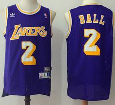 Los Angeles Lakers  2 Lonzo Ball Purple Men s Throwback Stitched NBA Jersey  Cycling Clothing e51313a34