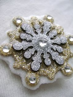 Silver and Gold Glitter Snowflake