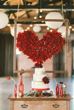 33 Lovely Valentine Wedding Ideas For Your Beautiful Moment - If you are a truly romantic bride Im sure the Valentines day wedding will be just the right thing for you. Which other day the population associate . Vintage Wedding Cake Table, Diy Wedding Cake, Red Wedding, Wedding Favors, Wedding Decorations, Wedding Day, Backdrop Decorations, Wedding Centerpieces, Wedding Blog