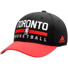 Toronto Raptors adidas 2Tone Practice Structured Adjustable Hat - Black/Red - $17.59