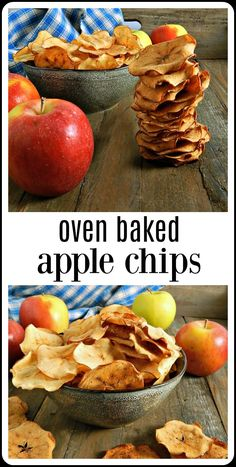 Apple Discover Oven Baked Apple Chips Oven Baked Apple Chips are crispy crunchy sweet deliciousness easy to make and perfect for a snack so good you wont even know its healthy! Healthy Vegan Snacks, Good Healthy Recipes, Gourmet Recipes, Snack Recipes, Baked Apples Healthy, Apple Recipes For Kids, Healthy Homemade Snacks, Healthy Chips, Appetizer Recipes