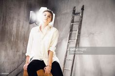 Actress and singer Louane Emera is photographed for Self Assignment on January 13, 2015 in Paris, France.