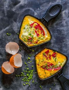 Raclette ideas: From pizza raclette to omelette in a pan - Raclette ideas: creative recipes for your pans - Easy Smoothie Recipes, Easy Smoothies, Good Healthy Recipes, Healthy Snacks, Snack Recipes, Omelette, Pizza Raclette, Raclette Ideas, Raclette Recipes