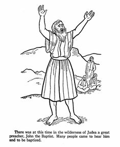Perfect Baptism Of Jesus Coloring Page 38 John the Baptist Coloring
