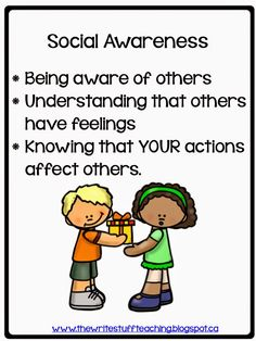 Getting kids to think beyond themselves: social awareness blog post with a FREE lesson download.