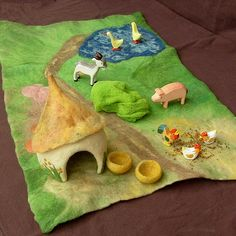 Small Animal Farm - Felted PlayScape by Rjabinnik and Rounien, via Flickr