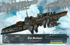 Just some old work I feel like putting up again. Will be updated once I have time. National service is beckoning. Old work - Cutter Steampunk Airship, Dieselpunk, Steam Punk, Alien Concept Art, Spaceship Concept, Flying Ship, Sci Fi Ships, Concept Ships, Mechanical Design