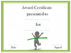 Award with best winner certificate template for Running certificates templates free