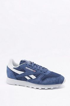 f3e9406f6af62e Reebok Classic Blue and White Trainers Blue And White Trainers