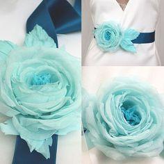 Gürtel mit Seidenblume  von -LovelyBlossom- auf DaWanda.com