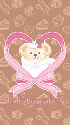 Duffy The Disney Bear, Disney Wallpaper, Cute, Wallpapers, Friends, Party, Animals, Iphone Wallpapers, Amigos