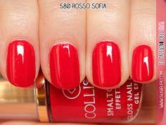 Smalto Gloss® Effetto Gel Rosso Sofia n.580#collistar #bellezzaitaliana #italy  #makeup #bellezza  #swatches #smalto #unghie #nails #rosso #red #sofia  #beauty #italia