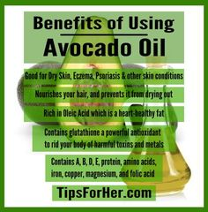 Not only does avocado taste great, it also has lots of benefits for your skin and hair. Here are 5 ways how avocado oil can help benefit and keep you and your body healthy. For Your Skin If you… Avocado Oil Benefits, Coconut Benefits, Eczema Psoriasis, Hair Health, Women's Health, Hair Oil, Healthy Skin, Healthy Beauty, Healthy Nutrition