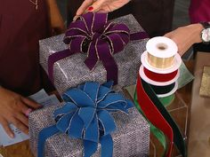 Fashionable, reusable gift-wrapping ideas. #Christmas