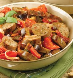 al fresco® Sundried Tomato Chicken Sausage Ragu with Roasted Eggplant and Tomato