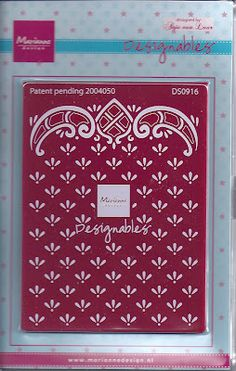 DutchPaperCrafts  I got this Marianne embossing cutting folder and have used it so much for cards.. works for men and women  Love it.  The woman at Dutch papers is so nice to work with