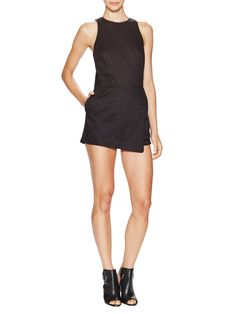 Asymmetrical Hem Skort Playsuit