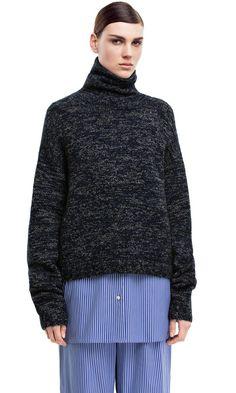 Dedicate navy turtleneck sweater #AcneStudios #PreFall2014