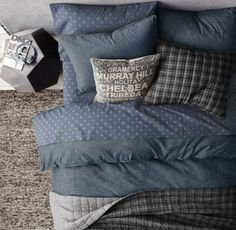 RH TEEN's Washed Chambray Duvet Cover:Indigo dye gives our cotton chambray bedding its signature color, meant to age like a pair of faithful blue jeans. Accented with denim-inspired, double-needled stitching for authenticity.
