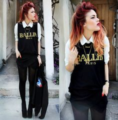 classyyyy  - ballin - Paris - collared shirt <3