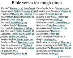 Bible verses for tough times.