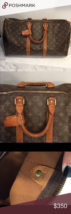 Authentic Louis Vuitton duffle bag keepall 45 Vintage in good condition.no trades .100% authentic Louis Vuitton Bags Travel Bags