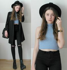 Get this look: http://lb.nu/look/7464648  More looks by Astrid H: http://lb.nu/astrid_h  Items in this look:  H&M Shirt, H&M Pants, Forever 21 Hat