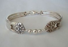 Recycled silver spoon jewelry