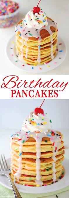 The perfect breakfast for a teenage girl's birthday breakfast after a sleepover. Also great for anyone that's celebrating their special day. Get the recipe on http://MomLovesBaking.com