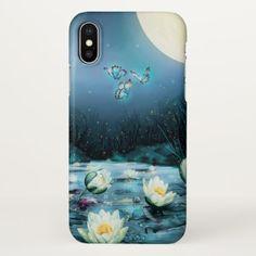 Lotus Pond Zazzle iPhone X Case - flowers floral flower design unique style