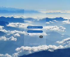 Login/signin page design