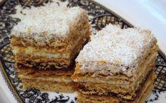 Retete Culinare - Mimoza - reteta cu nr. 300 Romanian Desserts, Romanian Food, Romanian Recipes, Sweets Recipes, Cookie Recipes, Polish Cake Recipe, Hungarian Cake, Cake Board, Food Cakes
