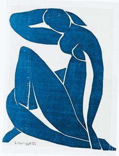 Henri Matisse - Blue Nude II - 1952 Uit portrettenspielerei op http://charlottedemey.be/portrettenspielerei/
