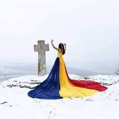 I know they make some of them Geordie lasses tough, but this one is on top of mountain without a jacket on! 1 Decembrie, Moldova, Soviet Union, Romania, My Favorite Things, Amazing, Outdoor Decor, Beautiful, Mountain