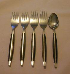 Stainless Steel Flatware and Silverware Modern Flatware, Stainless Steel Flatware, Ice Cream Scoop, Danish Modern, Aunt, Ebay, Black, Scoop Of Ice Cream, Black People