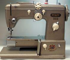 Pfaff 332 seen at MI Vintage Sewing Machines 2012 Sewing Machine For Sale, Sewing Machine Tables, Antique Sewing Machines, Vintage Sewing Patterns, Man Crafts, Industrial Machine, Vintage Love, Vintage Stuff, Vintage Photos