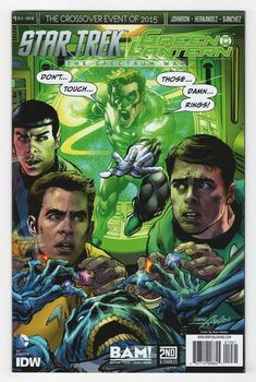 Star Trek Green Lantern #1 Neal Adams Books a Million Variant Cover (2015)