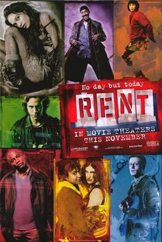 RENT holds a very special place in my heart. Saw it with the original cast back in the 90's, and 8 more times after that. I am proud RENT-Head.