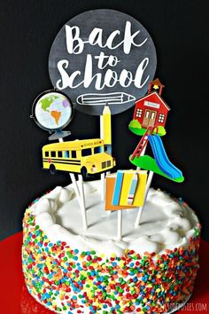 Bake a Back to School Cake - First Day of School Traditions - Photos
