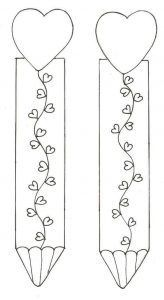 Bookmarks for VDay Creative Bookmarks, Diy Bookmarks, Corner Bookmarks, Colouring Pages, Coloring Sheets, Coloring Books, Free Printable Bookmarks, Bookmark Template, Valentine Crafts