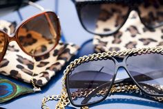 Cheetah and chain on sunglasses! Whatever chick has those I def wanna be her friend!!!! (guys I bet she's hot too)