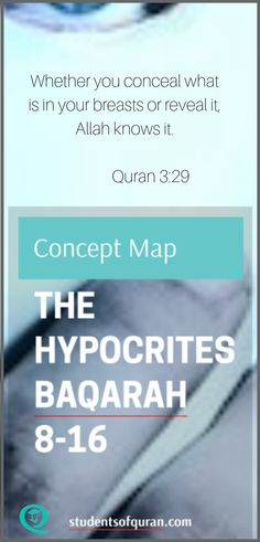 Concept Map Presentation The Hypocrites Baqarah Quran Quotes, Hindi Quotes, Quran Translation, Islamic Teachings, Holy Quran, Study Materials, Alhamdulillah, Presentation, Students