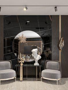 Home Room Design, Dream Home Design, Interior Design Living Room, Interior Decorating, House Design, Autocad, Leather Wall Panels, Mirror Decor Living Room, Adobe Photoshop
