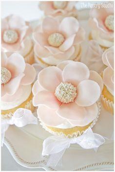 Pastel rose cupcake